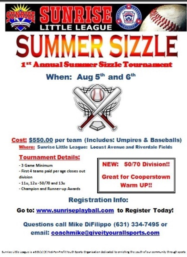 Summer sizzle 2017 Tournament August 5&6